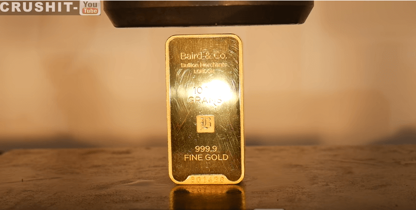 crush a gold chunk